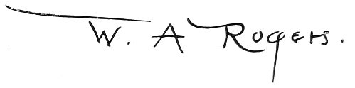 W. A. Rogers signature