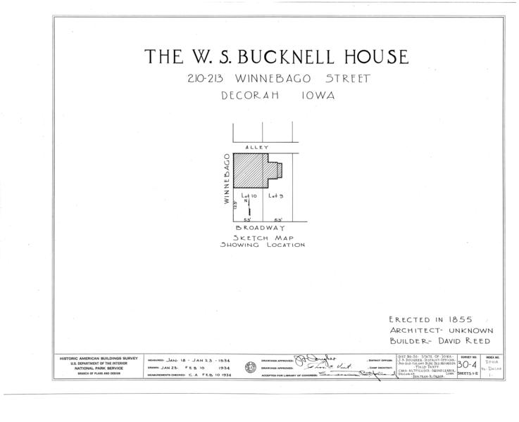 File:W. S. Bucknell House, 210-13 Winnebago Street, Decorah, Winneshiek County, IA HABS IOWA,96-DECOR,1- (sheet 0 of 5).png