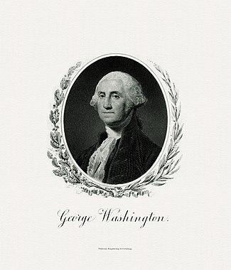 BEP gegraveerd portret van Washington als president