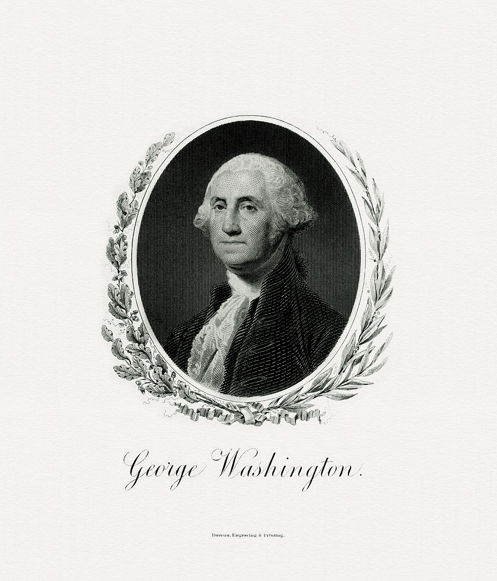 WASHINGTON, George-President (BEP engraved portrait)