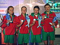 WDSC2007 Day1 Awards Women800FreestyleRelay Silver.jpg