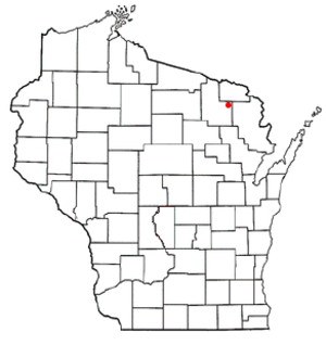 Armstrong Creek, Wisconsin - Image: WI Map doton Armstrong Creek