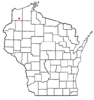 Location of Wascott, Wisconsin