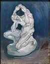 WLANL - artanonymous - Plaster Statuette of a Kneeling Man.jpg