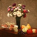 WLA metmuseum Asters and Fruit on a Table by Henri Fantin Latour.jpg