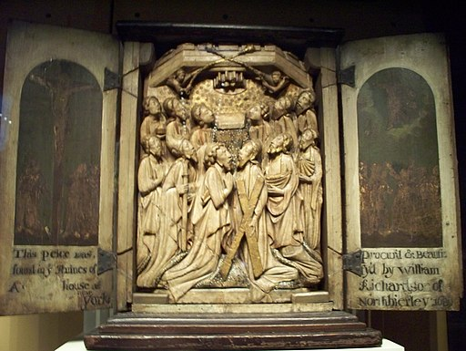 WLA vanda Alabaster Panel The Ascension English ca 1400-1425