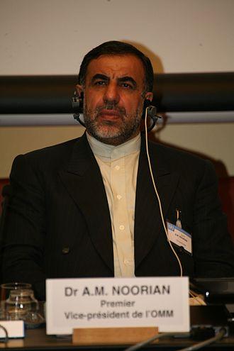Ali Mohammad Noorian - Ali Mohammad Noorian in World Meteorological Organization, 7 May 2007