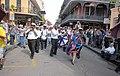 WWOZ 30th Birthday Parade Line.JPG