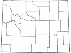 Location of Crowheart, Wyoming