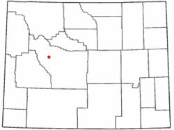 Luogo di Crowheart, Wyoming