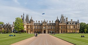 Waddesdon Manor - The north-facing entrance facade of Waddesdon Manor