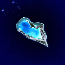 Satellittbilde av Wake Island.