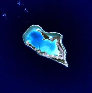 Satellitenbild von Wake
