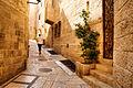 Walking a street in the Jewish Quarter in Jerusalem Old City.jpg
