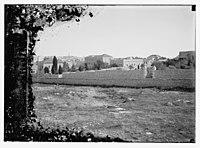Wall of American Consulate, Mamilla Road, and cemetery, Jerusalem LOC matpc.08297.jpg