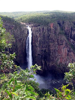 Geography of Queensland - Wallaman Falls have the longest drop of any waterfall in Australia, 2007