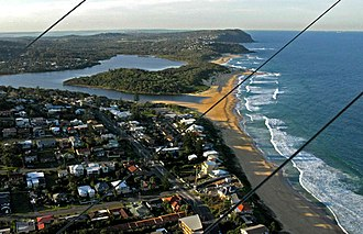 Wamberal, New South Wales - Wamberal Beach aerial view
