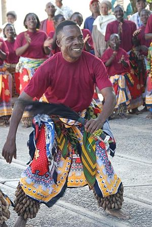 Ngoni people - An Ngoni dancer from Tanzania