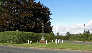 Carlton in Lindrick - Image: War memorial Carlton in Lindrick geograph.org.uk 909152
