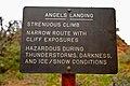 Warning Sign Angels Landing (Zion National Park) (3444020568).jpg