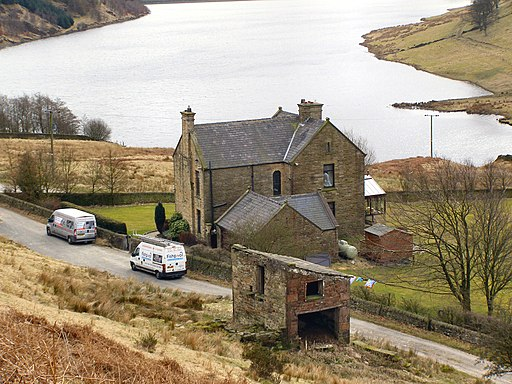 Water Works House and Greenbooth Reservoir - geograph.org.uk - 1761301