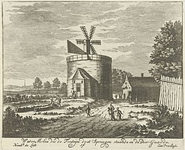 De windmolen rond 1725 - 1747