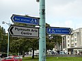 Wayfinding signage in Plymouth, England.jpg