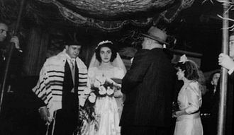 Ohel Rachel Synagogue - A wedding ceremony held at the Ohel Rachel in January 1951