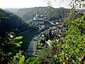Weesenstein, Blick vom Belvedere zum Schloss.JPG