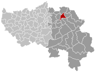 Welkenraedt - Image: Welkenraedt Liège Belgium Map