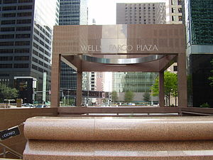 Wells Fargo Plaza (Houston) - Image: Wells Fargo Plaza Entrance