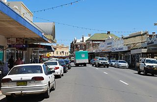 West Wyalong Town in New South Wales, Australia