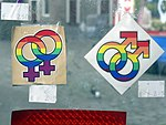 Lesbian and gay gender symbols