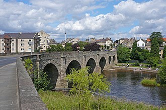 Wetherby - Bridge over the River Wharfe with town beyond
