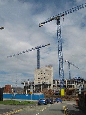 Whiston, Merseyside - Construction of the New Whiston Hospital, 2007