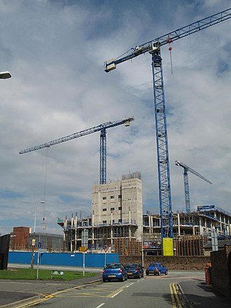 Whiston, Merseyside - Construction of the New Whiston Hospital, 2007