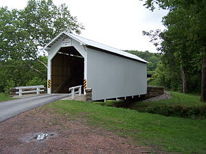 Greene Township, Greene County, Pennsylvania - White Covered Bridge (1919) National Register of Historic Places