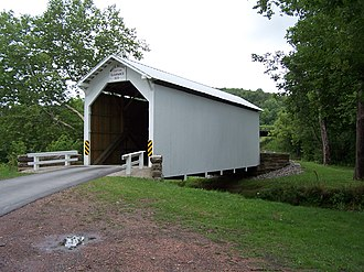 Greene Township, Greene County, Pennsylvania - White Covered Bridge (1919) National Register of Historic Places