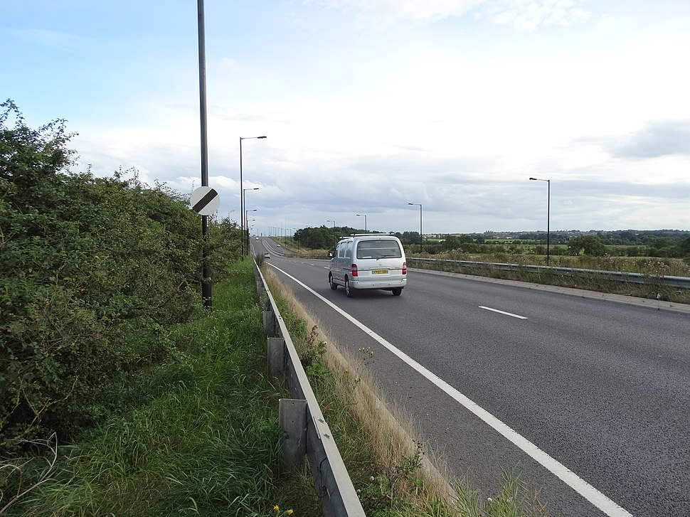 White Rose Way - The A6182 (geograph 4112695)