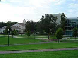Una vista del Whittier College