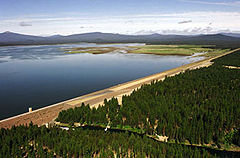 Wickiup Dam and Wickiup Reservoir in central Oregon.jpg