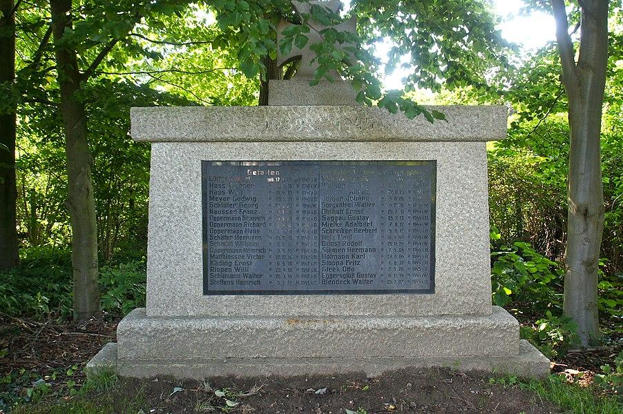 Wiemersdorf,  Germany: War Memorial (detail)