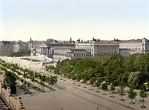 Austrian Parliament Building - Ringstraße and Parliament Building around 1900
