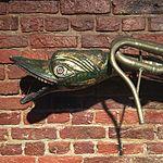 Wiki Loves Art --- Musée Royal de l'Armée et de l'Histoire Militaire ---Salle Napoléon, vitrine des instruments de musique, serpent.jpg