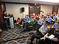 Wikimania 2017 by Deryck day 1 - 07 infobox session.jpg