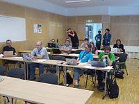 Wikimedia Hackathon Vienna 2017 attendees 14.jpg