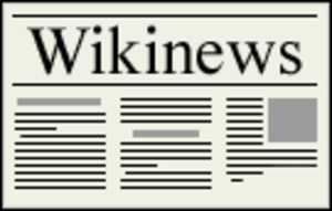 Wikinews - The beta version logo, used until February 13, 2005