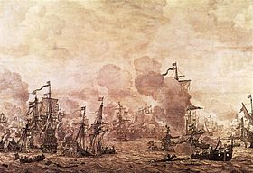 Willem van de Velde (I) - The Battle of the Sound - WGA24516.jpg