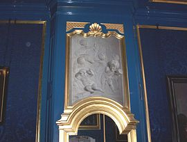 Trompe-l'œil Wall grisaille in Amsterdam by Jacob de Wit, 1730s.