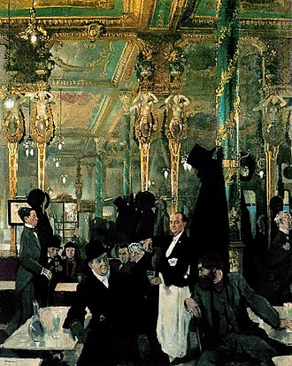 Peter Warlock - The Cafe Royal circa 1912, a frequent meeting place for Heseltine and his friends